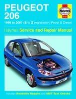 Haynes 3757 Workshop Repair Manual Guide Peugeot 206 1998 - 2001